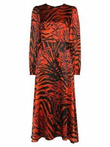 Borgo De Nor Elitsa tiger-print midi dress - Black