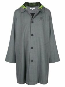 Opening Ceremony hooded trench coat - Grey