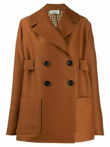 LANVIN double-breasted short coat - Brown
