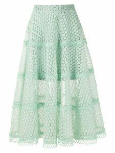 Olympiah Lamier lace midi skirt - Green