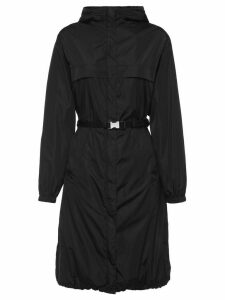 Prada belted hooded raincoat - Black