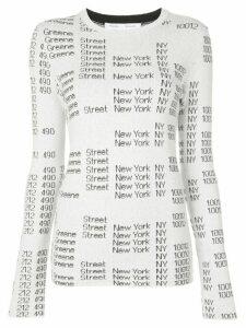 Proenza Schouler White Label address print jumper