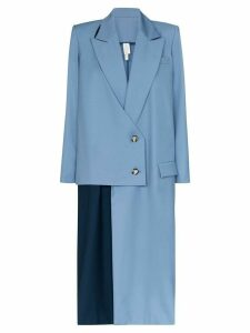 Marta Jakubowski Jasmine double-breasted asymmetric coat - Blue