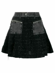 Diesel lurex bouclé flared skirt - Black