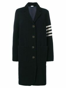 Thom Browne 4-Bar Narrow Oversized Sack Overcoat - Blue