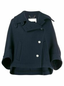 Chloé cropped peacoat - Blue