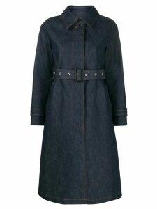 Mackintosh Roslin single breasted trench coat - Blue