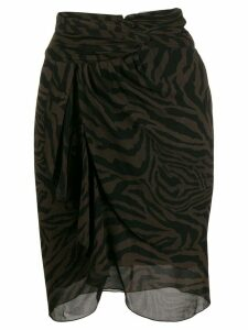Ba & Sh Scarlett zebra print skirt - Brown