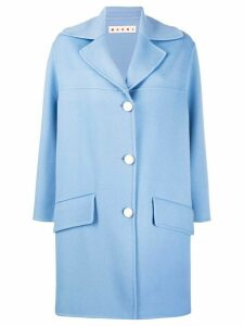 Marni oversized single-breasted coat - Blue