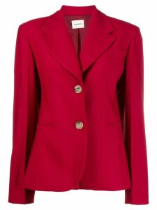 Khaite Kendall power shoulder blazer - Red