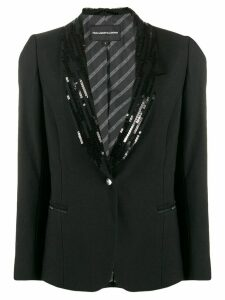 Karl Lagerfeld sequin embellished blazer - Black
