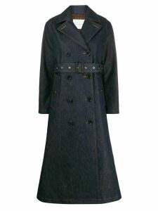 Mackintosh Montrose maxi trench coat - Blue
