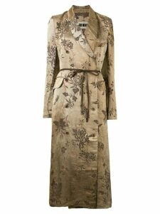 Uma Wang floral jacquard robe coat - Brown