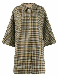 Mackintosh Mintlaw checked pattern coat - NEUTRALS