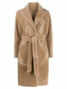 S.W.O.R.D 6.6.44 shearling trechcoat - Brown
