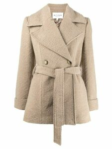Etro textured print coat - NEUTRALS