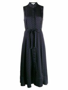 Equipment polka dot print sleeveless dress - Blue
