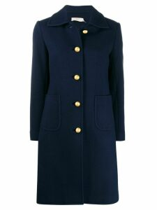 Tory Burch single-breasted fitted coat - Blue