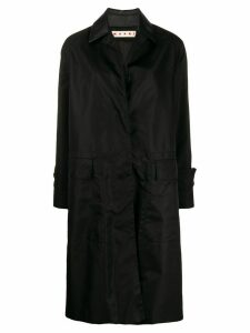 Marni single-breasted raincoat - Black