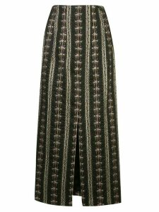 Brock Collection textured floral patterned skirt - Black