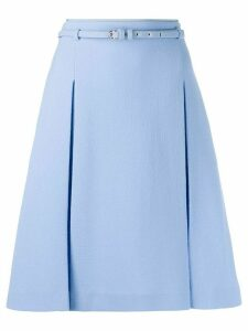 Emilio Pucci belted a-line skirt - Blue