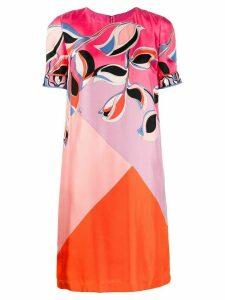 Emilio Pucci printed colour block dress - Pink