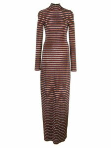 Rosetta Getty sparkling striped dress - MULTI