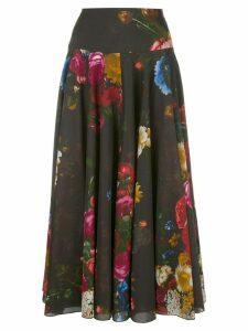 Samantha Sung Women's Black midi A line skirt
