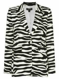 Rachel Zoe zebra-print blazer - Black