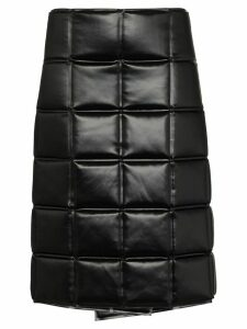 Bottega Veneta quilted wrap knee-length skirt - Black