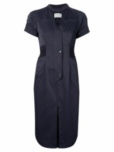 Mame Kurogouchi fitted shirt dress - Blue