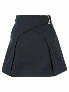 Dion Lee panelled A-line skirt - Blue