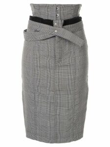 Unravel Project houndstooth foldover-waist skirt - White