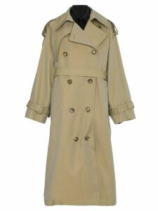 Juun.J Oversized Layered Trench Coat - Neutrals
