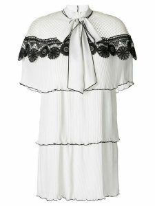Self-Portrait 3D floral dress - White