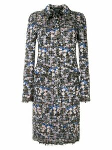 Giambattista Valli floral appliqué coat - Blue