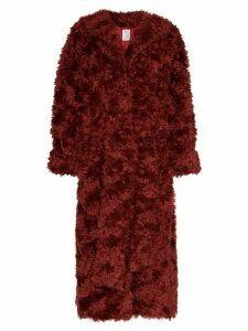 Rosie Assoulin oversized mohair coat - Red