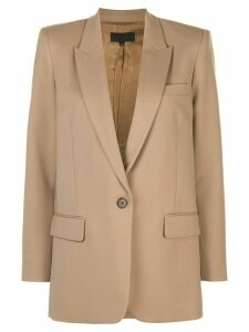 Nili Lotan Diane single breasted blazer - NEUTRALS