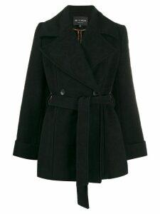 Etro textured print coat - Black