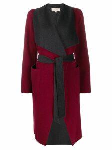 Michael Michael Kors contrast belted cardi-coat - Red