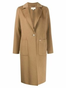 Michael Michael Kors single-breasted tailored coat - Brown