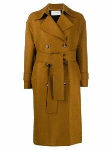 Harris Wharf London double breasted coat - Brown