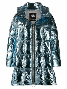 Ienki Ienki Cropped Pyramide overized coat - Blue