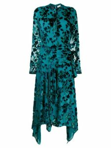 Chloé floral-embellished shirt dress - Blue