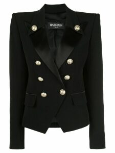 Balmain structured double breasted blazer - Black