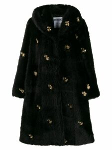 Moschino dollar studs coat - Black
