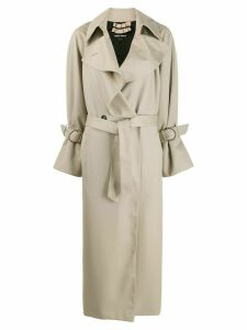 Giorgio Armani buckle detail trench coat - Neutrals
