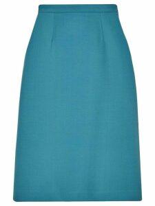 Gucci MDCCXXXIV print midi skirt - Blue