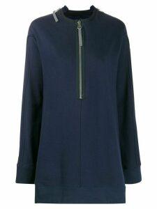 Zilver straight fit sweat dress - Blue