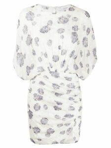 IRO floral-print draped dress - White